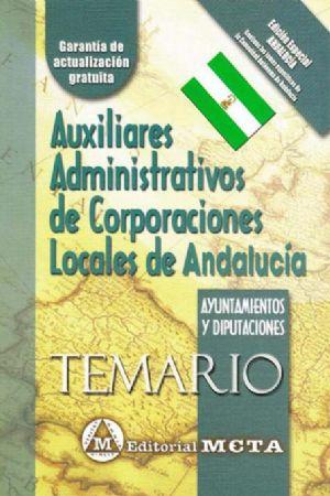 AUXILIARES ADMINISTRATIVOS DE CORPORACIONES LOCALES DE ANDALUCÍA (TEMARIO)