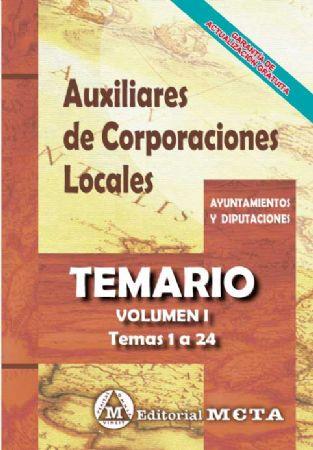 AUXILIARES DE CORPORACIONES LOCALES (TEMARIO) TEMAS 1-24