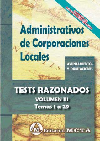 ADMINISTRATIVOS DE CORPORACIONES LOCALES (TESTS RAZONADOS) TEMAS 1-29