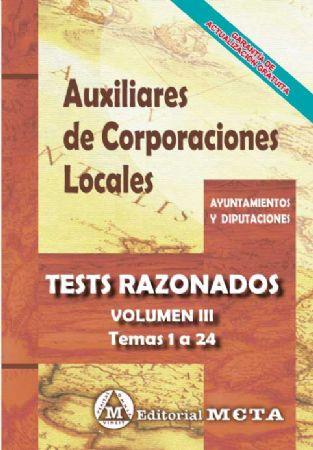 AUXILIARES DE CORPORACIONES LOCALES (TESTS RAZONADOS) TEMAS 1-24