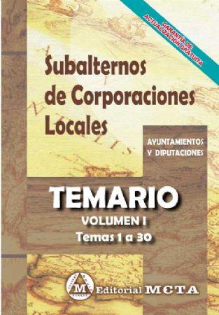 SUBALTERNOS DE CORPORACIONES LOCALES (TEMARIO)