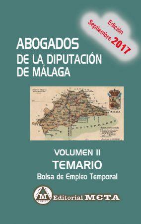 ABOGADOS DE LA DIPUTACIÓN DE MÁLAGA VOLUMEN II (TEMARIO)
