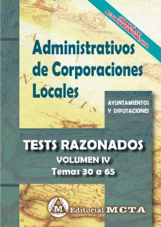 ADMINISTRATIVOS DE CORPORACIONES LOCALES. (TEST RAZONADOS) TEMAS 30-60