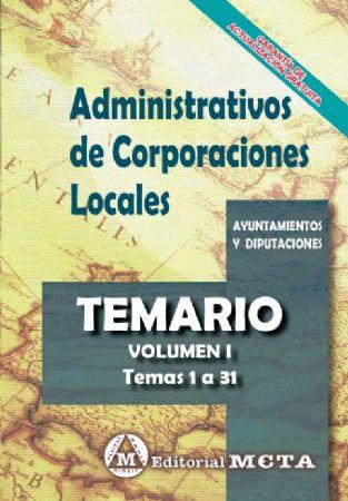ADMINISTRATIVOS DE CORPORACIONES LOCALES (TEMARIO) TEMAS 1-29